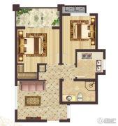 神农架龙降坪国际生态旅游度假区2室1厅1卫62平方米户型图