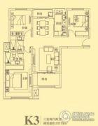 东方今典3室2厅2卫119平方米户型图