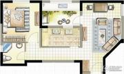 高成天鹅湖1室1厅1卫69--73平方米户型图