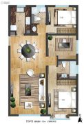 世界冠郡3室2厅2卫115平方米户型图