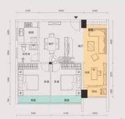 美吉丽・鼎通国际3室2厅1卫83平方米户型图