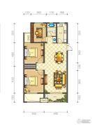 佳源巴黎都市3室2厅1卫101平方米户型图