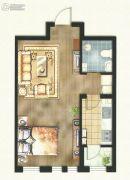 东方国际城1室1厅1卫54平方米户型图