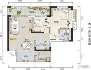 锦都华庭2室2厅2卫0平方米户型图
