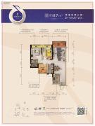 碧桂园・半岛1号3室2厅2卫87平方米户型图