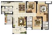 鑫月广场・欢乐海湾4室2厅2卫117平方米户型图