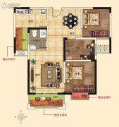 润合花园3室2厅1卫105平方米户型图