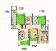 蓝庭印象3室2厅2卫120--125平方米户型图