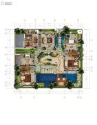 香水湾1号3室2厅2卫262平方米户型图