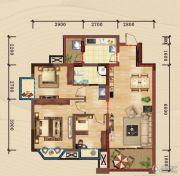 嘉州新城・滟澜洲3室2厅1卫71平方米户型图