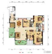 中核・半岛城邦4室2厅3卫195--190平方米户型图
