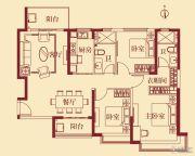 恒大翡翠华庭3室2厅2卫134平方米户型图