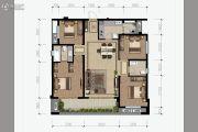花样年香�T第4室2厅2卫140平方米户型图