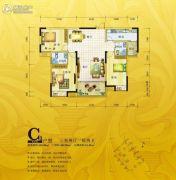 锦绣银湾3室2厅2卫102--118平方米户型图