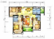 雅居乐十里花巷3室2厅2卫136平方米户型图