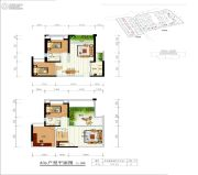 世纪公元2室2厅1卫173平方米户型图