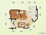 碧桂园澜江华府2室2厅1卫68平方米户型图