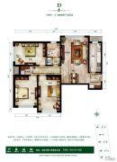 首尔・甜城3室2厅1卫125平方米户型图