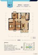 建投・御湖园3室2厅2卫115平方米户型图