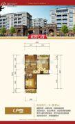 星城国际2室2厅1卫50--60平方米户型图