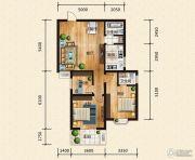 汉成华都3室2厅2卫103平方米户型图