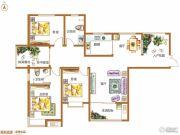 锦江城市花园3室2厅2卫145平方米户型图