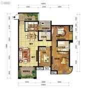 中交锦湾一期3室2厅2卫127平方米户型图