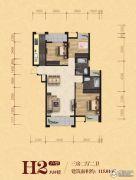松江宁越花园3室2厅2卫115平方米户型图