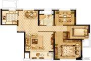 宝华北岸郡庭3室2厅1卫89平方米户型图