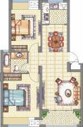 梧桐公馆2室2厅1卫85平方米户型图