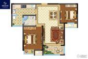 银洲皇家学苑2室2厅1卫83平方米户型图