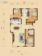 东城人家3室2厅2卫162平方米户型图