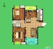 荣盛花语城3室2厅1卫97平方米户型图