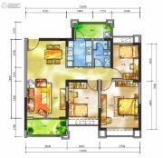 雅居乐十里花巷3室2厅1卫101平方米户型图