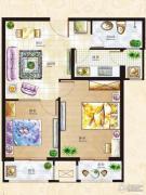 丁豪广场2室2厅1卫0平方米户型图