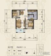 三田雍泓・青海城2室2厅1卫91平方米户型图