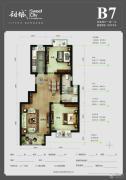 首尔・甜城2室2厅1卫89平方米户型图