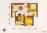 东方夏威夷2室2厅1卫86平方米户型图