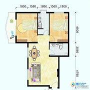 滨海新城2室1厅1卫91平方米户型图