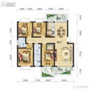 春江・帝景湾4室2厅2卫138平方米户型图