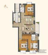 世茂外滩新城3室2厅2卫151平方米户型图