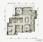 万科金色悦城3室2厅2卫119平方米户型图