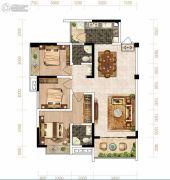芙蓉・四季花城3室2厅2卫106平方米户型图