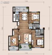 万科翡翠云台3室2厅2卫125平方米户型图