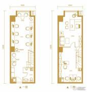 金鹰天地广场1室1厅1卫61平方米户型图