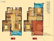华润橡树湾四期4室2厅2卫130平方米户型图