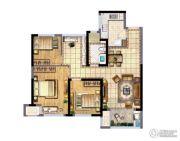 新城香悦澜山3室2厅1卫90平方米户型图