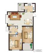 逸城山色2室2厅1卫81平方米户型图