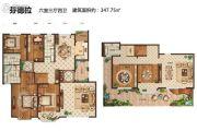玫瑰湾香颂6室3厅4卫347平方米户型图