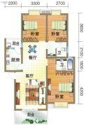 龙郡3室2厅2卫110平方米户型图